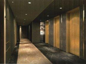 电梯厅 (客房楼层的走廊)
