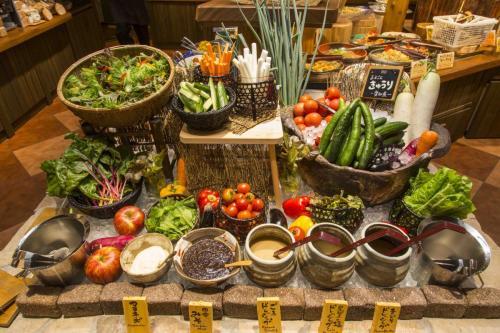 『元気になる農場レストラン モクモク』朝食ブッフェ(健康野菜)