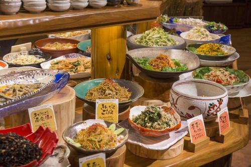 『元気になる農場レストラン モクモク』朝食ブッフェ(惣菜)