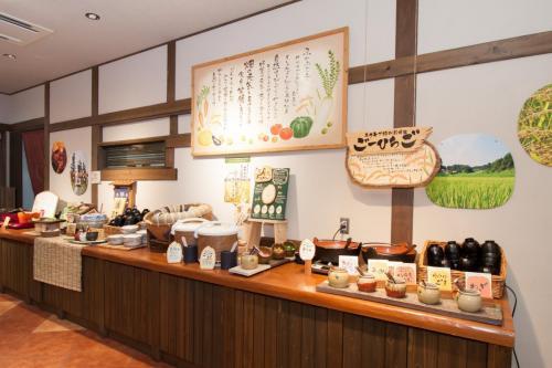 『元気になる農場レストラン モクモク』朝食ブッフェ(ご飯台)