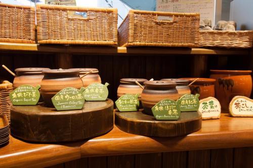 『元気になる農場レストラン モクモク』朝食ブッフェ(お茶)